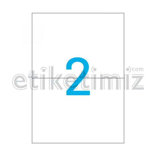 210x148.5 mm Düz Kenar Lazer Etiket