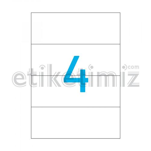 210x74.215 mm Düz Kenar Lazer Etiket