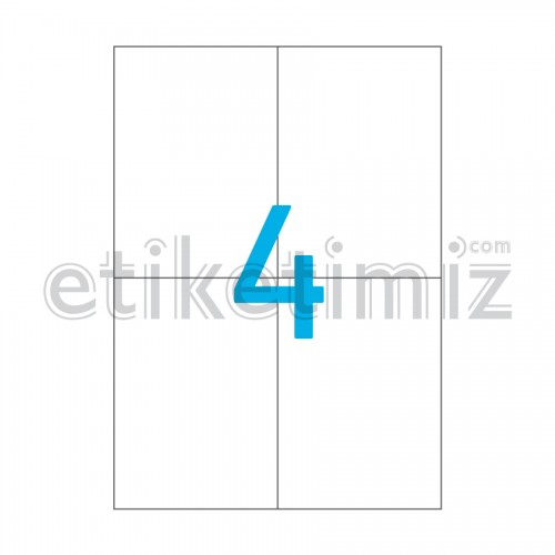 105x148.5 mm Düz Kenar Lazer Etiket