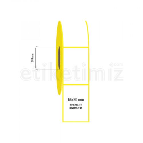 55x80 mm Kuşe Etiket